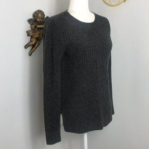 J. crew 100% wool cable knit gray sweater